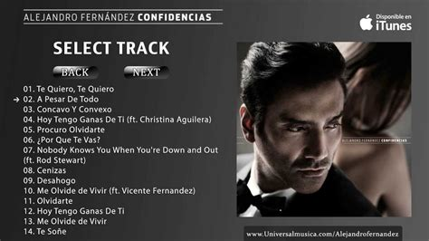 Alejandro Fernandez - Confidencias Album Preview - YouTube