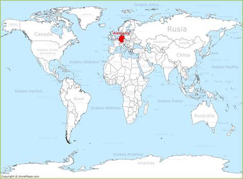 Alemania en el mapa del mundo   AnnaMapa.com