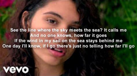 Alessia Cara - How Far I'll Go [Official Lyrics] MOVIE ...