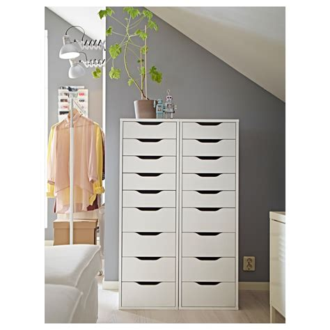 ALEX Drawer unit with 9 drawers White 36x116 cm - IKEA