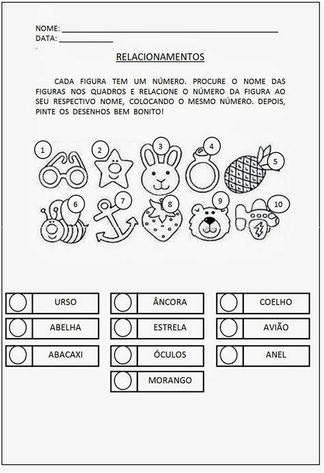 Alfabetização Tarefas para imprimir — SÓ ESCOLA