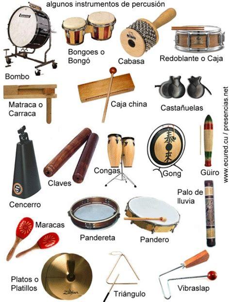 Algunos instrumentos de percusion