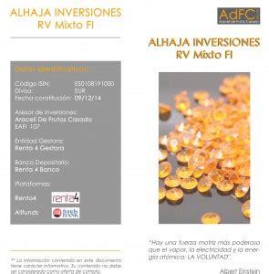 ALHAJA INVERIONES Carta Abril2015   Araceli de Frutos EAFI