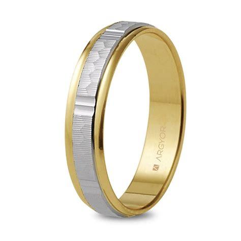 Alianza de boda 2 oros facetada 5240311 de 4mm | Argyor