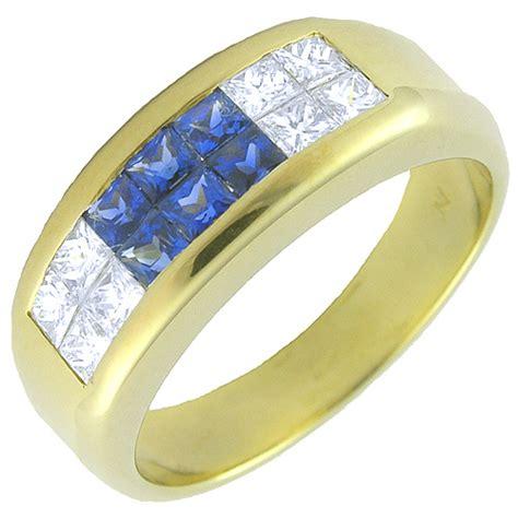 Alianza de boda con diamantes y zafiros 3000066