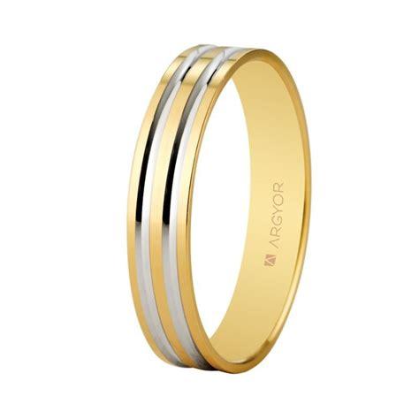Alianza de boda oro bicolor diseño 5140210R   Argyor
