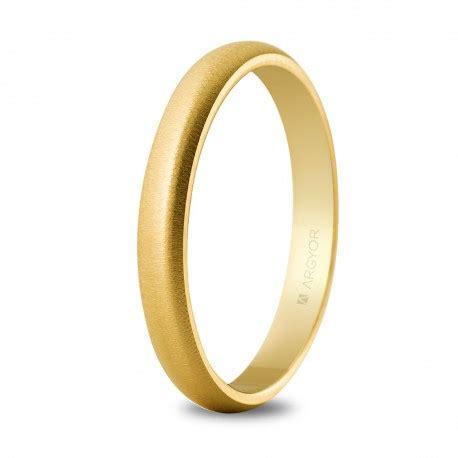 Alianza de boda oro texturizada de 3mm 50306T   Argyor