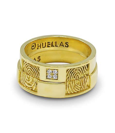 Alianzas de boda en oro y plata- Huellas