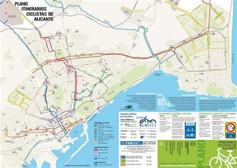 Alicante bike map