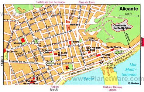 Alicante Spain Map | Adriftskateshop