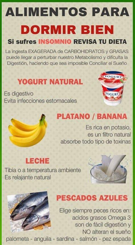 Alimentos para dormir bien | Infografías y Remedios