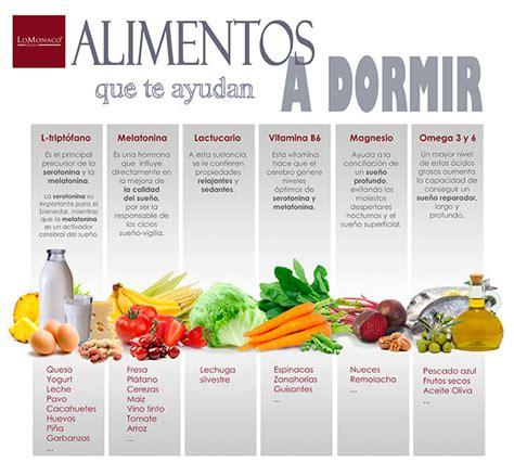 Alimentos que ayudan a dormir   Blog LoMonaco