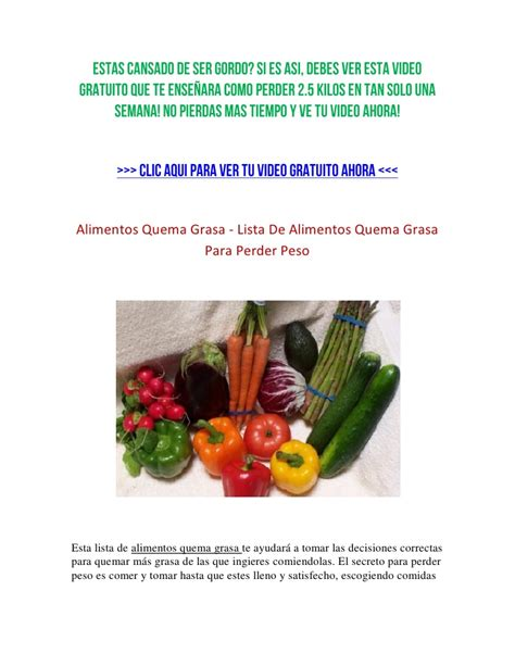 Alimentos Quema Grasa - Alimentos Quema Grasa Para Perder Peso