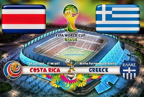 Alineación y la previa Costa Rica Grecia. Octavos de final ...