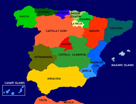 All About Spain: THE REGIONS