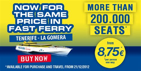 All seats at the lowest price   Tenerife   La Gomera