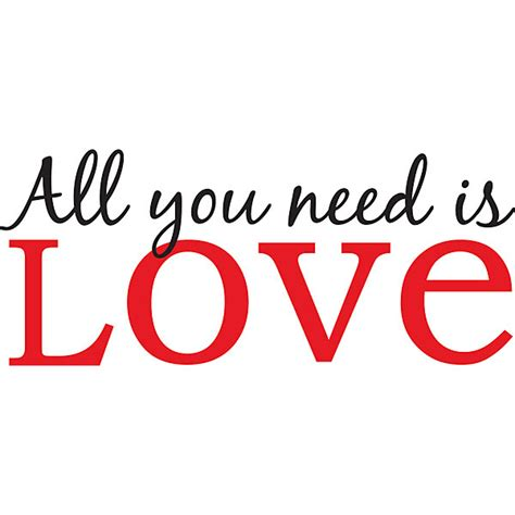 All You Need is Love Wall Phrases- Wall Quote Decals ...
