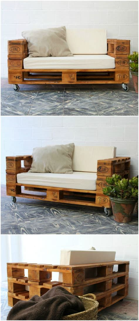ALMANZOR sofá palets. 120x80cm | Sofá con Palets | Sofas ...