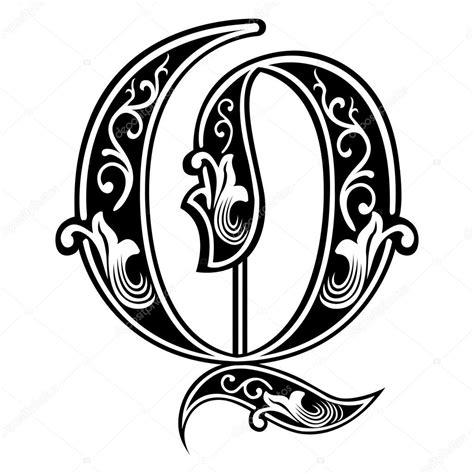 Alphabets anglais belle décoration, de style gothique ...