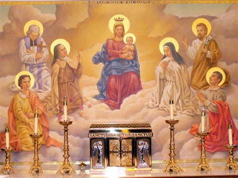 Altar Painting | Our Lady Queen of All Saints Catholic ...