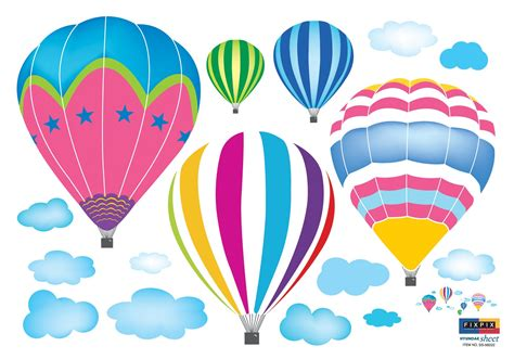Amazon.com: Ryuan Colorful Hot-air Balloon in The Sky ...