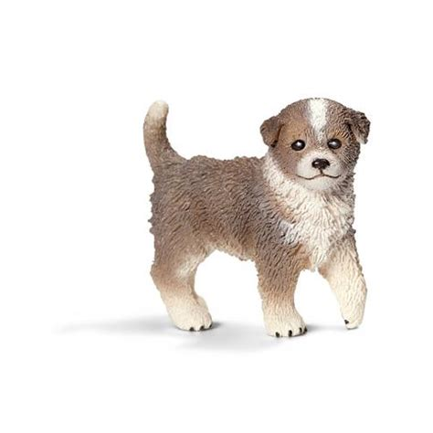 Amazon.com: Schleich Australian Puppy Shepherd Toy Figure ...