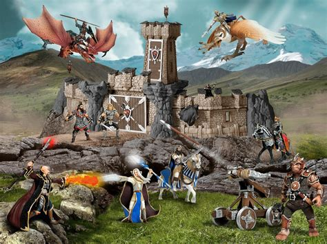 Amazon.com: Schleich Dragon Knight Action Figure with ...