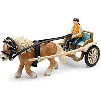 Amazon.com: Schleich Pony Carriage: Toys & Games