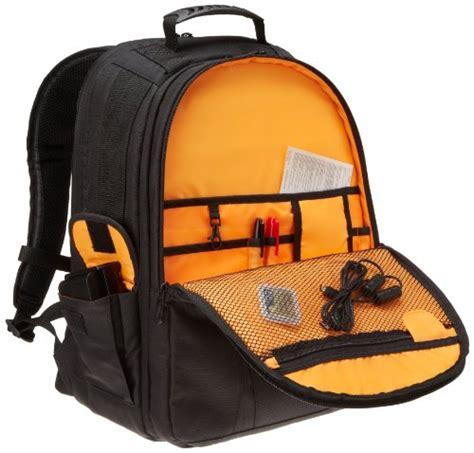 AmazonBasics DSLR and Laptop Backpack   Orange interior ...