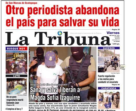 Amenazan a empleados del diario La Tribuna en Honduras