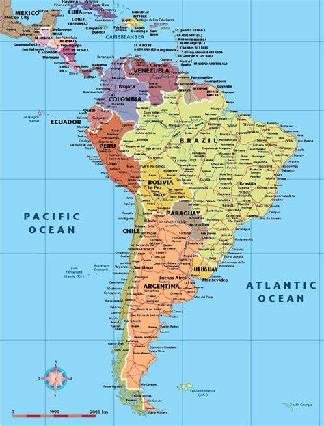 America mapa vectorial editable de paises,ciudades,eps ...
