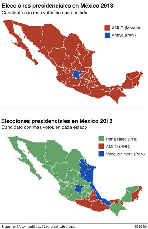 AMLO gana las elecciones: cuánto cambió el mapa electoral ...
