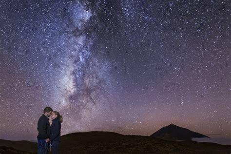 Amor bajo el universo: preboda en Tenerife