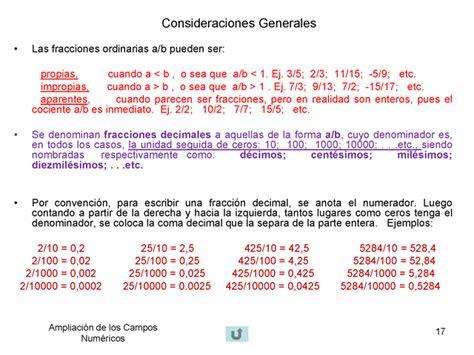 Ampliación de los campos numéricos  Presentación ...