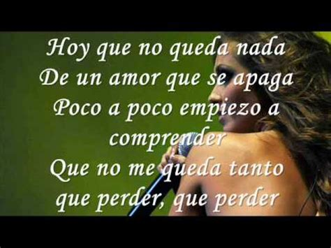 Anahi No Te Quiero Olvidar Lyrics - YouTube