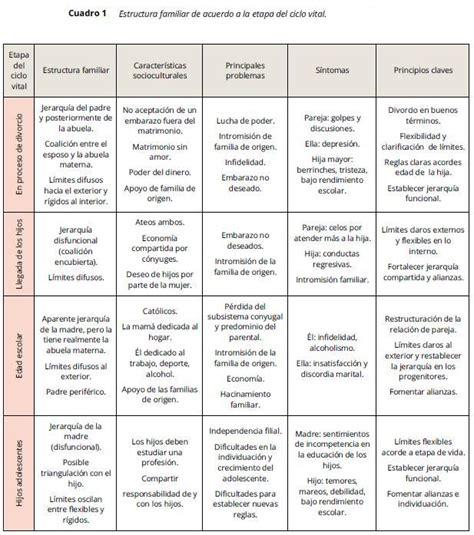 Análisis del ciclo vital de la estructura familiar y sus ...