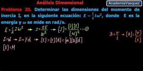 Análisis Dimensional: Problema 20, energía cinética de ...