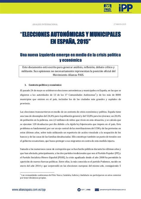 Análisis Internacional: Elecciones autonómicas y ...