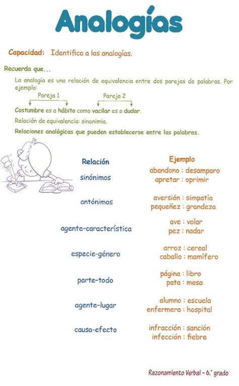 Analogías para Niños 6º primaria   Razonamiento Verbal