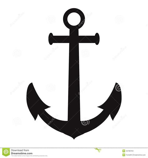 Anchor silhouette stock vector. Image of dirty, decoration ...