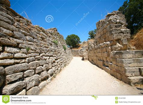 Ancient Troy Stock Image   Image: 21447281