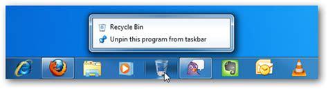 Anclar a la Papelera de reciclaje en la Barra de Tareas