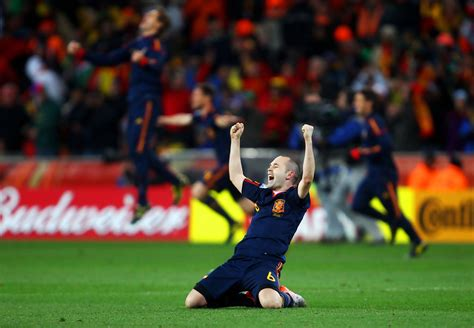Andres Iniesta in Netherlands v Spain: 2010 FIFA World Cup ...
