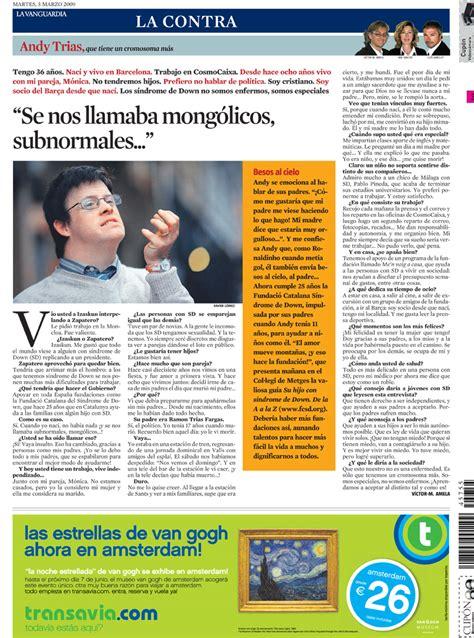Andy Trias en la Contra de La Vanguardia | El blog de Anna