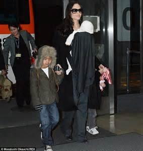 Angelina Jolie and Brad Pitt s son Maddox joins parents at ...