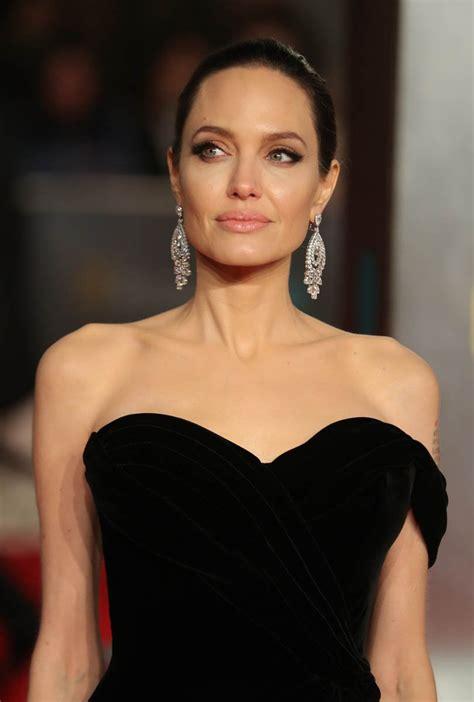 Angelina Jolie at the BAFTAs following Jennifer Aniston ...
