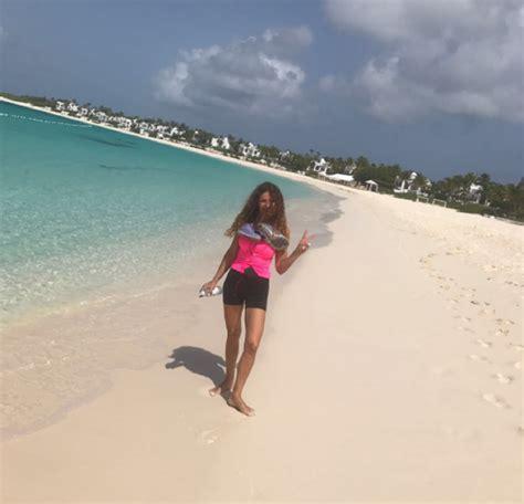 Angie Cárdenas, sus vacaciones más especiales en el Caribe