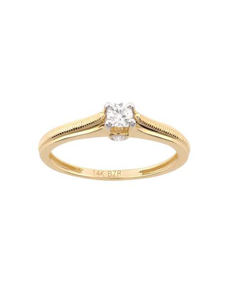 anillo de compromiso de oro amarillo RA3881Y Bizzarro ...