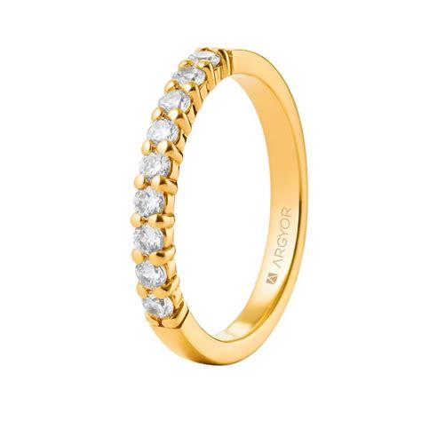 Anillo de diamantes de oro amarillo 18k 74A0058 |Argyor