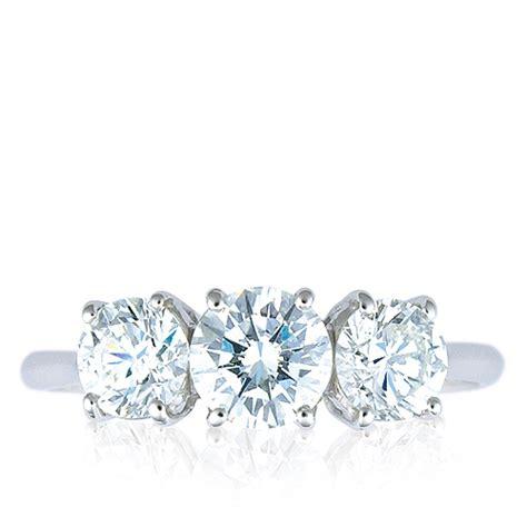 Anillo Trilogy   Oro blanco 18K con diamantes   1008